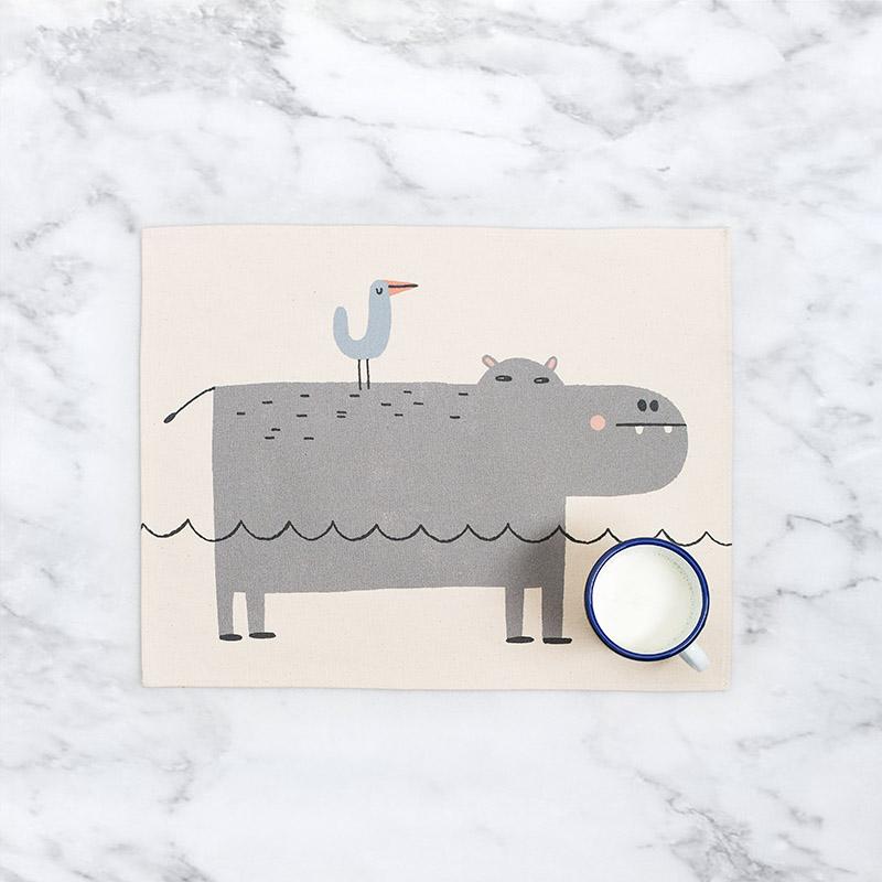 Mantel individual hipopótamo Tirso