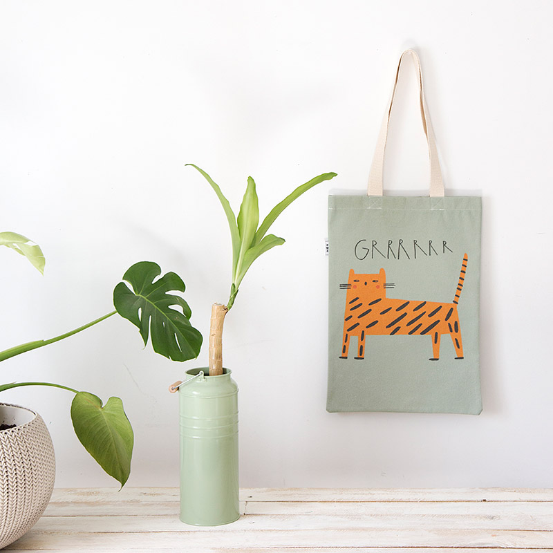 Bolsa tigresa Raquel verde