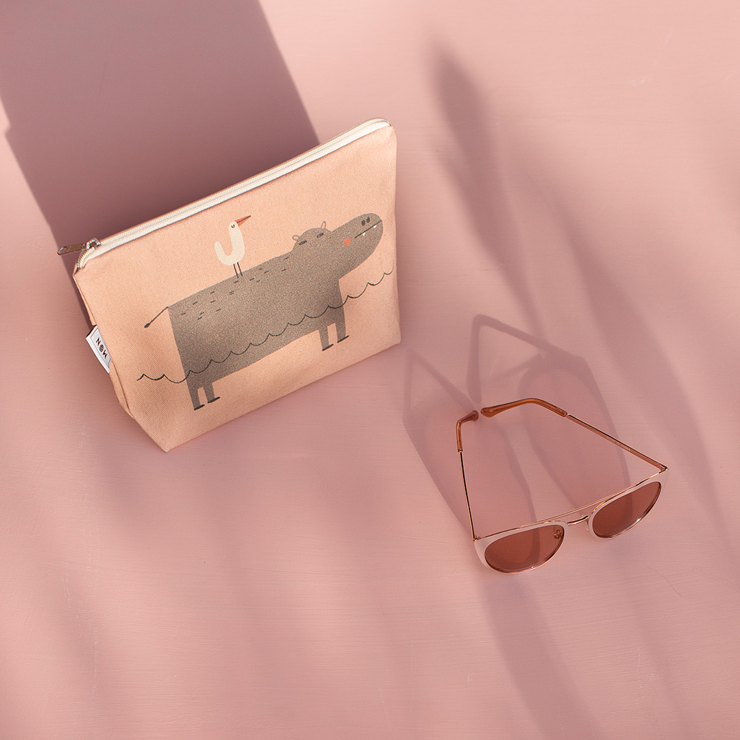 Estuche pequeño hipopótamo Tirso rosa